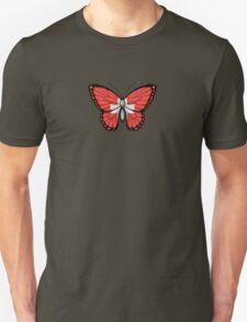 Swiss Flag Butterfly Unisex T-Shirt