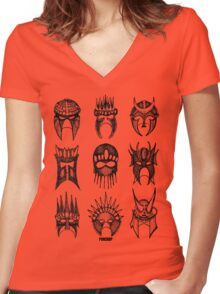 Masks Of Now Women's Fitted V-Neck T-Shirt