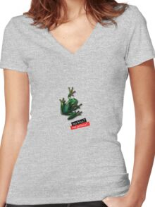 No kiss - No Prince! Women's Fitted V-Neck T-Shirt