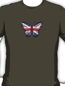 British Flag Butterfly T-Shirt