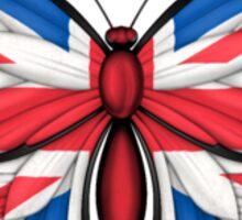British Flag Butterfly Sticker
