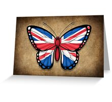British Flag Butterfly Greeting Card