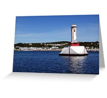 Mackinaw Island Harbor Greeting Card