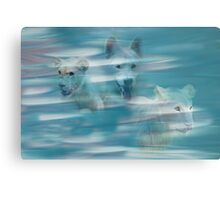 Running with the wolf Metal Print