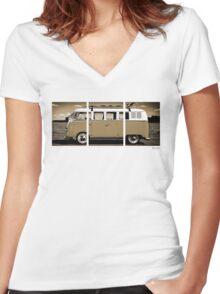 Volkswagen Kombi Classic © Women's Fitted V-Neck T-Shirt
