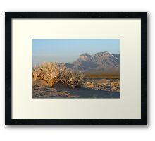 Providence Mts from Kelso Dunes Framed Print