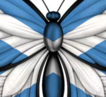 Scottish Flag Butterfly Sticker