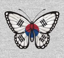 South Korean Flag Butterfly Kids Tee