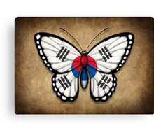 South Korean Flag Butterfly Canvas Print