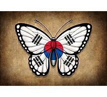 South Korean Flag Butterfly Photographic Print