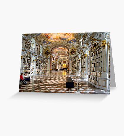 Admont Benedictine Monastery - Library Greeting Card