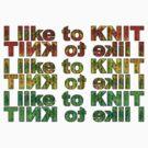 I like 2 knit! by Trish Peach