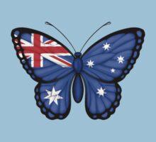 Australian Flag Butterfly Kids Tee