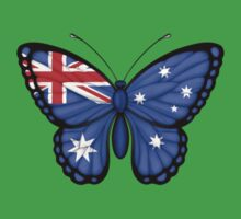 Australian Flag Butterfly Baby Tee