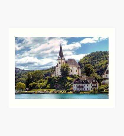 Maria Worth - Pilgrimage Church Art Print