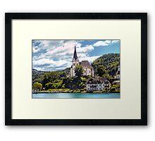 Maria Worth - Pilgrimage Church Framed Print