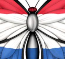 Dutch Flag Butterfly Sticker