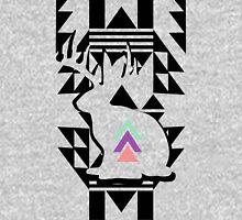 Modern Tribal Jackalope Black White Pastel T-Shirt