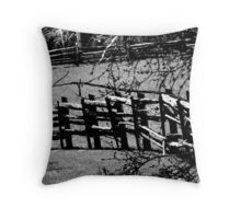 This Old Fence. Throw Pillow