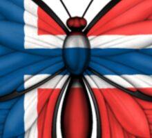 Norwegian Flag Butterfly Sticker