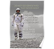 Interstellar Dylan Thomas Quote Wall Art - Typography Poster