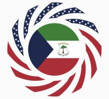 Equatoguinean American Multinational Patriot Flag Series by Carbon-Fibre Media