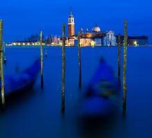 San Giorgio Maggiore and Gondolas - Venice, Italy by Yen Baet