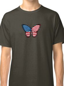 American Flag Butterfly Classic T-Shirt