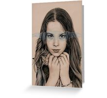 girl in grey Greeting Card
