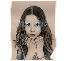 girl in grey Poster