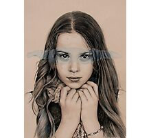 girl in grey Photographic Print