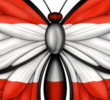 Austrian Flag Butterfly Sticker