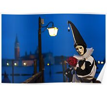 Mask at the Venice Carnival, Italy Poster