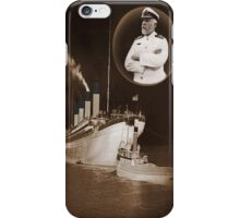 ☝ ☞ EJ SMITH CAPTAIN OF THE TITANIC & TITANIC -CELL PHONE CASES-Titanic leaving Belfast with two guiding tugs ☝ ☞ iPhone Case/Skin