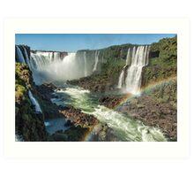 Rainbow over the River Art Print
