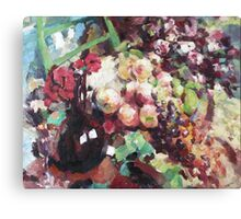 Korovin Wine and fruit in 1916 (author's copy) Canvas Print