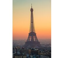 Sunset at the Eiffel Tower in Paris, France Photographic Print