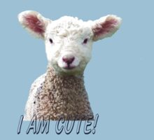 I am Cute - Kids T-Shirt - Lamb - NZ - Southland One Piece - Short Sleeve