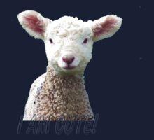 I am Cute - Kids T-Shirt - Lamb - NZ - Southland One Piece - Long Sleeve