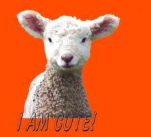 I am Cute - Kids T-Shirt - Lamb - NZ - Southland Kids Clothes