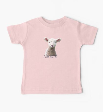 I am Cute - Kids T-Shirt - Lamb - NZ - Southland Baby Tee