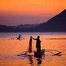 Sunset at Taal Lake, in Talisay, Philippines by Yen Baet