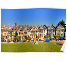 "San Francisco ""Painted Ladies"" Poster"