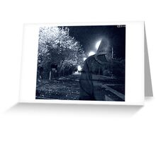 Into the night (blue) Greeting Card