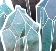 Light Watercolor Crystals Sticker