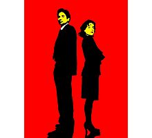 X files Scully and Mulder Photographic Print