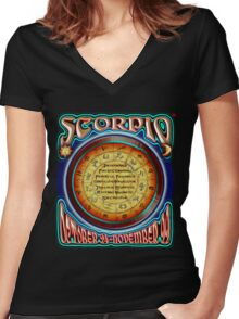 ASTROLOGY = SCORPIO Women's Fitted V-Neck T-Shirt
