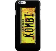 Volkswagen Kombi Plate iPhone Case/Skin