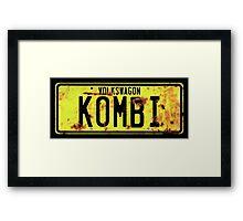 Volkswagen Kombi Plate Framed Print