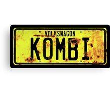 Volkswagen Kombi Plate © Canvas Print